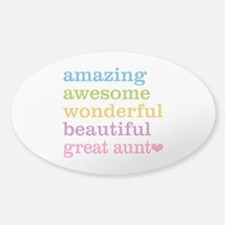 Great Aunt - Amazing Awesome Decal