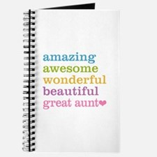 Great Aunt - Amazing Awesome Journal
