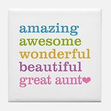 Great Aunt - Amazing Awesome Tile Coaster
