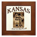 Kansas - Lil' Romance Framed Tile