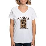 Kansas - Lil' Romance Women's V-Neck T-Shirt