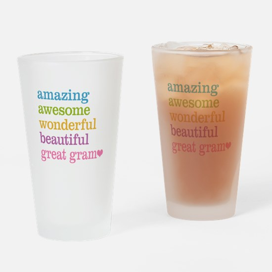 Great Gram - Amazing Awesome Drinking Glass