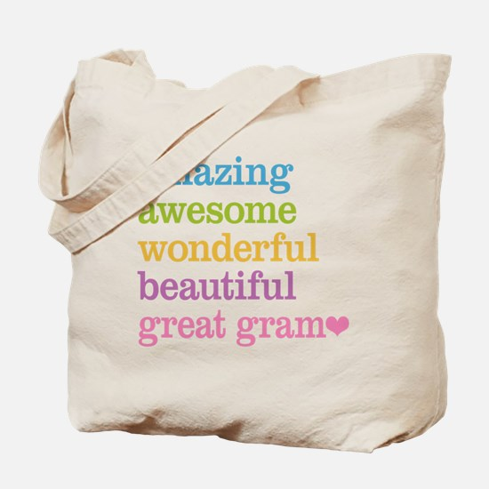 Great Gram - Amazing Awesome Tote Bag