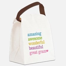 Great Gram - Amazing Awesome Canvas Lunch Bag