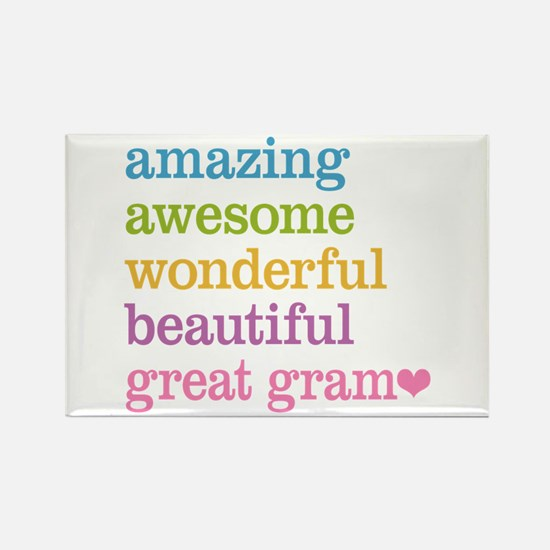 Great Gram - Amazing Awesome Rectangle Magnet
