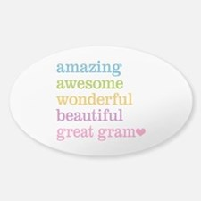 Great Gram - Amazing Awesome Decal