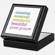 Great Gram - Amazing Awesome Keepsake Box
