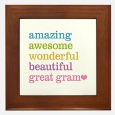 Great Gram - Amazing Awesome Framed Tile