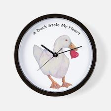A Duck Stole My Heart Pekin Design Wall Clock