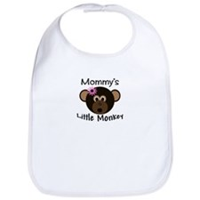 Mommy's Little Monkey Girl funny Bib