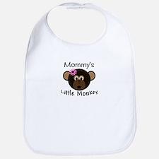 Mommy's Little Monkey Girl funny Bib