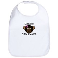 Daddy's Little Monkey Girl funny Bib