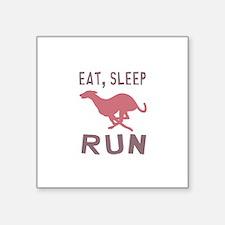 """Eat Sleep Run Square Sticker 3"""" x 3"""""""