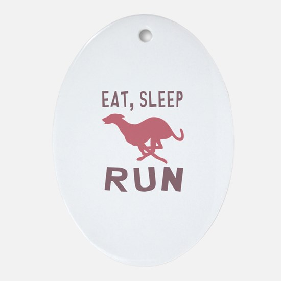 Eat Sleep Run Ornament (Oval)