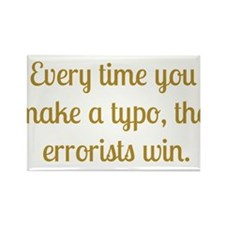 Typo Rectangle Magnet (10 pack)