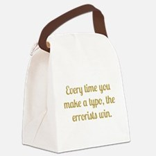 Typo Canvas Lunch Bag