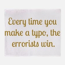 Typo Throw Blanket