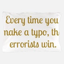Typo Pillow Case