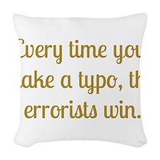 Typo Woven Throw Pillow