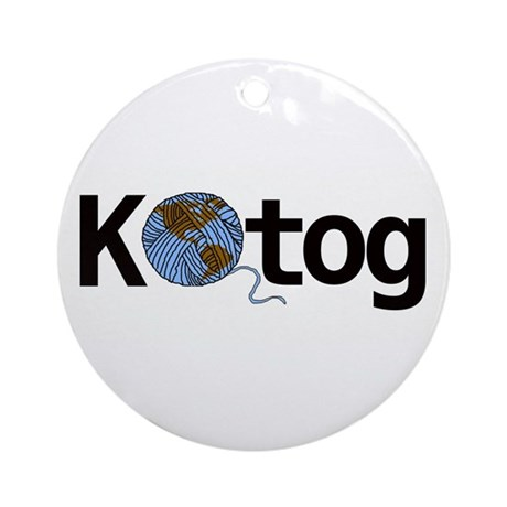 Knit the world together Ornament (Round)