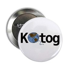 """Knit the world together 2.25"""" Button"""