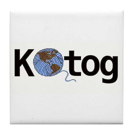 Knit the world together Tile Coaster