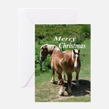 Farm Horses Greeting Card