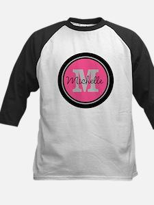 Pink | Black Name Initial Mon Tee