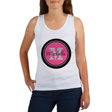 Pink | Black Name Initial Monogra Women's Tank Top