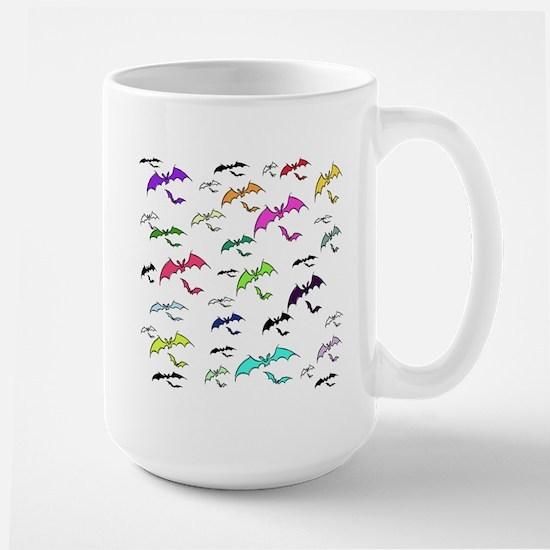 Rainbow Of Bats Large Mug