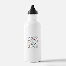 Rainbow Of Bats Water Bottle