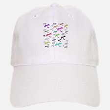 Rainbow Of Bats Baseball Baseball Cap