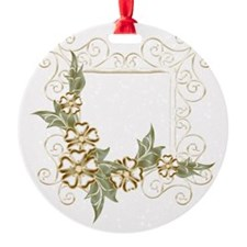 Floral Golden Frame Ornament
