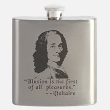 Voltaire Quote on Pleas Flask