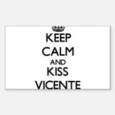 Keep Calm and Kiss Vicente Decal