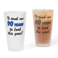 Took Me 90 Years Drinkware Drinking Glass