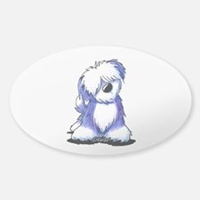 Old English Sheepie Sticker (Oval)