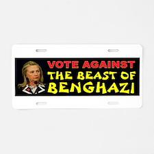 Hillary Beast Aluminum License Plate