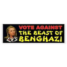 Hillary Beast Bumper Bumper Sticker