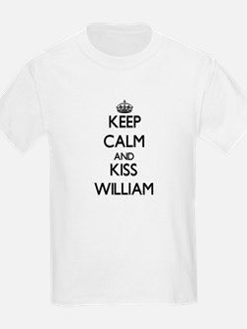 Keep Calm and Kiss William T-Shirt