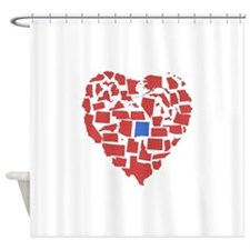 New Mexico Heart Shower Curtain