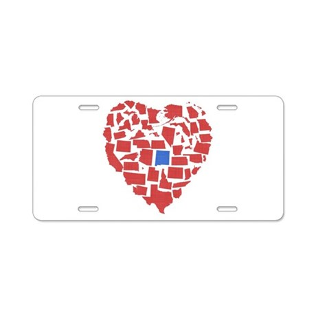 New Mexico Heart Aluminum License Plate