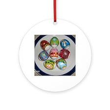 Ukrainian Easter eggs 2 Round Ornament