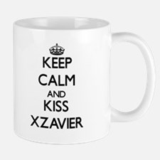 Keep Calm and Kiss Xzavier Mugs