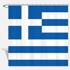 Flag Of Greece Shower Curtain