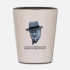 Churchill -Regulations Shot Glass
