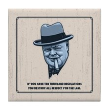 Churchill -Regulations Tile Coaster