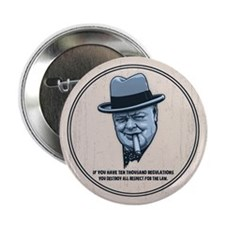 "Churchill -Regulations 2.25"" Button"