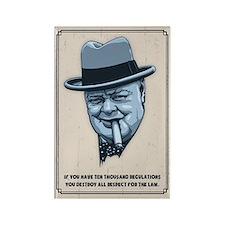 Churchill -Regulations Rectangle Magnet