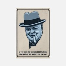 Churchill -Regulations Rectangle Magnet (100 pack)